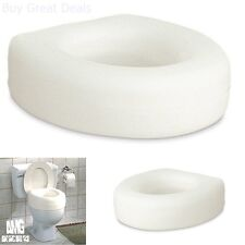 "AquaSense Portable Raised Toilet Seat for Handicap Elderly Bathroom Safety 4"""
