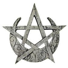 Large Crescent Moon Pentacle Plaque - Dryad Designs - Pagan Wiccan Pentagram