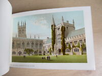 Tourist's Guide to Oxford and its University, 1880s, chromolithograph plates