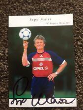 SEPP MAIER ( B Munich & Germany ) SIGNED 6 X 4 MAGAZINE PAGE.COA.
