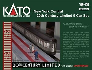 Kato 106-100 N, 20th Century Limited, 9 Car Set, Display Track, New York Central