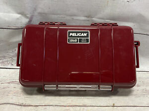 Pelican 1060 Micro Case - for iPhone, GoPro, Camera, and More (Red/maroon)