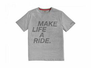 BMW Motorrad Grey Tour Motorcycle Short Sleeve T-Shirt Make Life A Ride