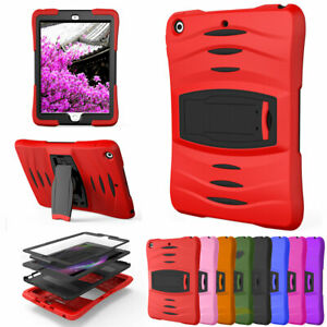 For Apple iPad 9.7 6th 5th Generation Rugged Armor Case Cover w Screen Protector