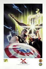 Universe X Lithograph by Alex Ross Marvel Comics DF Wizard Authentic 2000