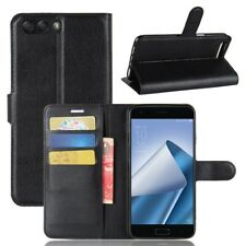 Asus Zenfone 4 Handy Hülle Flip Case Schutzhülle Tasche Cover Kartenfach schwarz