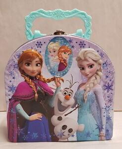 Disney Frozen Tin Lunch Box Elsa Anna Olaf The Snowman c2014 15cm Wide