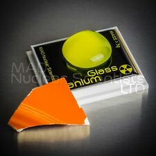 Uranium Glass Sample & Uranium Glaze Pottery Geiger Counter Check Source (M01)