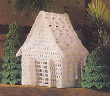 Crochet Pattern ~ Victorian Miniature Cottage & Tree Ornaments ~ Instructions