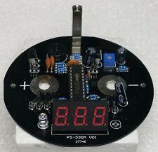 Red Digital voltage display board for 4 inch diameter car audio capacitors