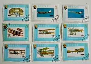 BELIZE AIRPLANES SCOTT 440-8 COMPLETE SET USED CAT $ 29.30