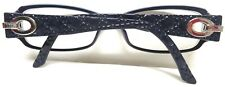 DIOR PURPLE QUILTED CANNAGE RX GLASSES FRAMES SILVER TONE SIGNATURE LOGO 135