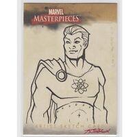 Marvel Masterpieces Sketch Card Nice Ink Clean Card