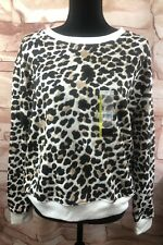 Relaxed Fit Cheetah Sweatshirt Cozy Size Large 11/13 No Boundaries NWT