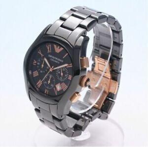 NWT Emporio Armani Men's AR1410 Ceramica Chronograph Watch