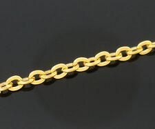 2m Chaine maille Forçat chainette Doré 3mm x 2,5mm petit maillon creation bijoux