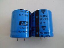 Vishay BC 150µF 450V 85°C Elko 151 05737 Snap-In Style *Neu* *2 Stück*