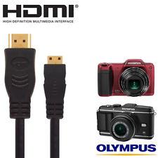 Olympus E-P3, SZ-15, VH-520, E-5 Camera HDMI Mini TV Monitor 2.5m Lead Cable