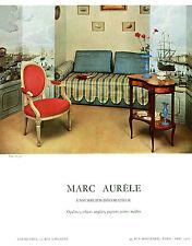 """Publicité Ancienne """" Décoration Marc Aurèle  1959  """"  ( P. 25 )"""