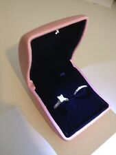 Pink  LED Lighted Engagement Proposal Ring Box Jewelry Gift Box Case PU Leather
