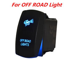 SUV/Pickup Offroad Driving Light Laser Rocker Switch Backlit Blue 5 Pins On-Off