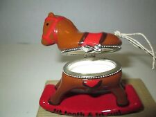 Rocking Horse Tooth & Curl Baby Keepsake by Mud Pie, NIB
