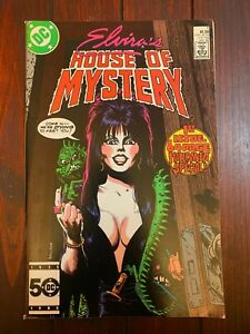 ELVIRA'S HOUSE OF MYSTERY #1 1986 VF Ghosts 64 Page Halloween Special DC Comics