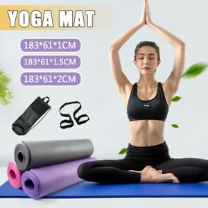 Thick Yoga Mat Pad 6/10/15/20MM NBR Nonslip Exercise Fitness Pilate Gym Durable