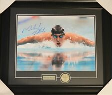AUTO DPISPORTS MICHAEL PHELPS OLYMPIC FRAMED 16X20