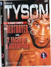 MIKE TYSON THE DESTROYER & TWO FACES OF A CHAMPION - TWO DISC SET BOXING DVD