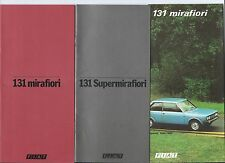 Fiat 131 Mirafiori Supermirafiori Set of Brochure Rally Wereldkampioen Dutch
