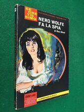 Rex STOUT - NERO WOLFE FA LA SPIA , Segretissimo n.59 (1964) Libro giallo