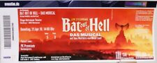 Original Fan Ticket für Sammler + Bat Out Of Hell Musical + Meat Loaf + 1A +