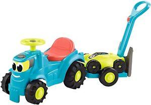 Jouet Plein Air Enfant Exterieur Tracteur + Remorque + Tondeuse 12-36 Mois