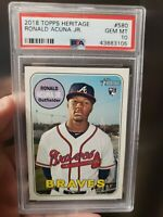 RONALD ACUNA JR PSA 10 GEM MINT HIGH NUMBER ROOKIE 580 RC SP 2018 TOPPS HERITAGE