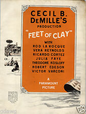 1924 PAPER AD 2 Side Cecil B DeMille's Feet Of Clay Movie Paramount Picture
