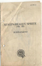 Austin Healey Sprite Mk III Supplementary Handbook AKD 3899 A/1 1964