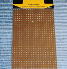 - PHENOLIC - board perforated vacuum tube radio vintage prototype breadboard NOS