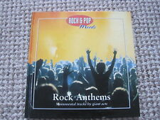 MUSIC CD ROCK ANTHEMS WITH BOOK THIN LIZZY TOTO FREE EUROPE THE CARS LOU REED