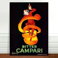 "Vintage French Liquor Poster Art ~ CANVAS PRINT 36x24"" Bitter Campari"