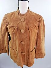 LIVE a LITTLE TAN SUEDE Leather Shirt/Jacket Size Lg.