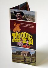 Vtg 70s Medora North Dakota Travel Brochure Teddy Roosevelt Zoo Table Setting