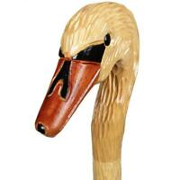 Duck Head Cane Walking Stick Wooden Handle Handmade Hand Carved Support Canes