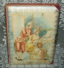 LOVELY ANTIQUE CABINET PHOTO CARDS ALBUM dated 1905 empty *with faults*