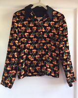 Vintage Todd Oldham Peach Fruit Print Top Jacket Size M