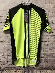 Canari Bike Cycling Ride Race Fitzgerald Jersey Killer Yellow Mens Shirt Medium!