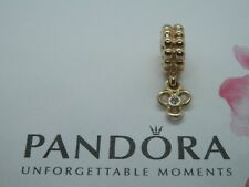 Genuine Pandora 14ct Gold Flower Charm set with a Tanzanite - 750407TZ Retired
