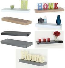 Floating Wooden Wall Shelves Shelf Home Decoration Display Unit With Fittings