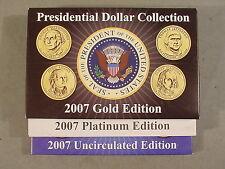 2007 James Madison Presidential Dollar Set Dollar Mania B/U GOLD PLATINUM