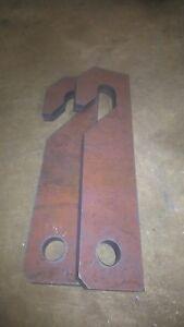 Weidemann Loader Brackets 25mm Profile Cut Steel, Weld On Bracket